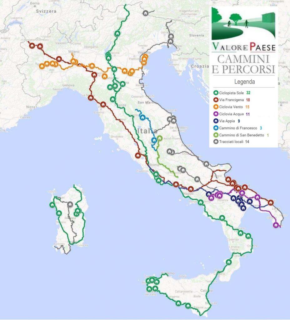 Carte chateaux italie
