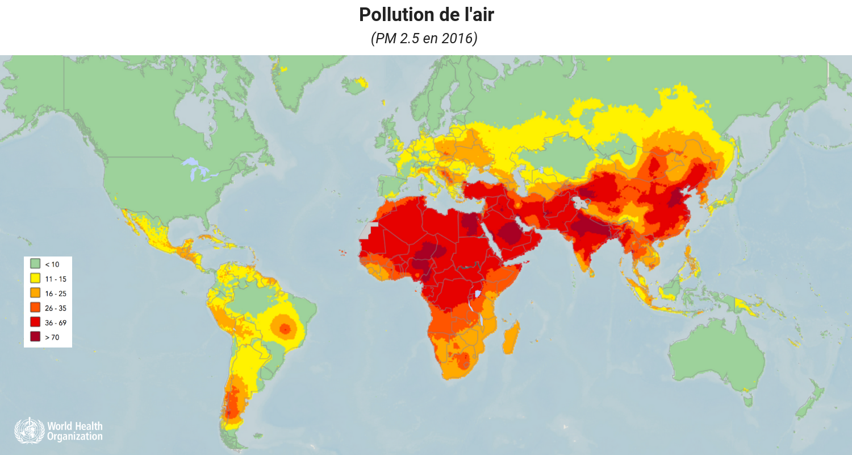 Pollution de l'air DANS LE MONDE oms