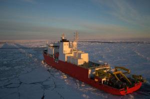 Arctique brise glace route de la soie polaire