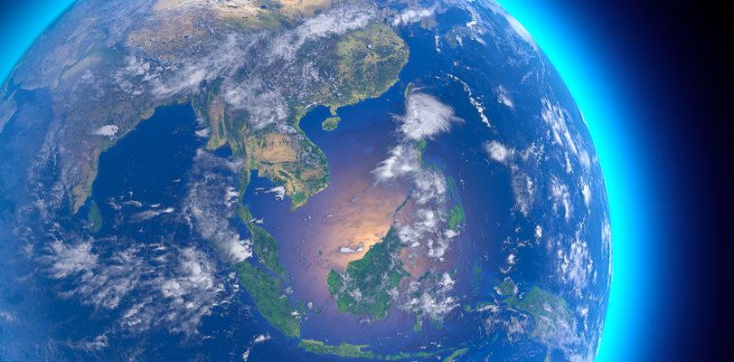 Terre vue satellite